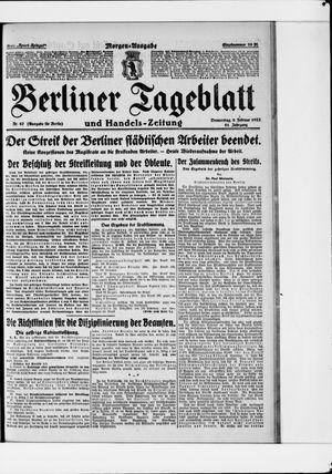 Berliner Tageblatt und Handels-Zeitung vom 09.02.1922