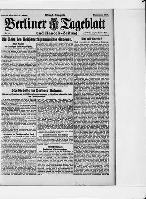 Berliner Tageblatt und Handels-Zeitung vom 10.02.1922