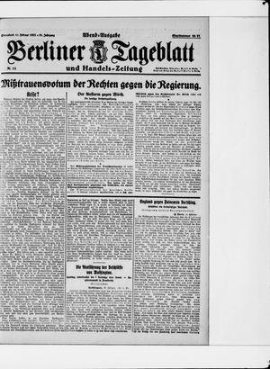 Berliner Tageblatt und Handels-Zeitung vom 11.02.1922