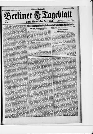 Berliner Tageblatt und Handels-Zeitung vom 13.02.1922