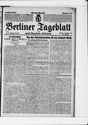 Berliner Tageblatt und Handels-Zeitung vom 14.02.1922