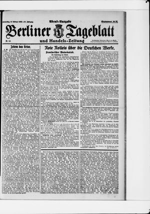 Berliner Tageblatt und Handels-Zeitung vom 16.02.1922