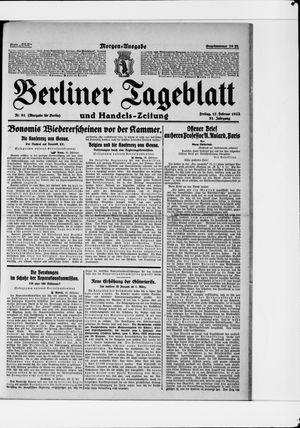 Berliner Tageblatt und Handels-Zeitung vom 17.02.1922