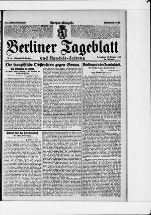 Berliner Tageblatt und Handels-Zeitung vom 18.02.1922