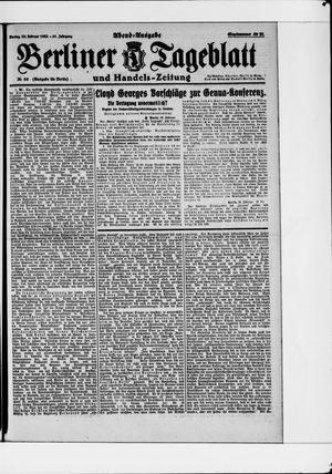 Berliner Tageblatt und Handels-Zeitung vom 20.02.1922