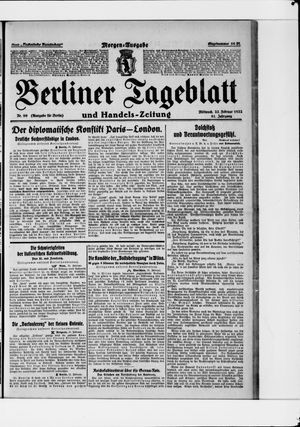 Berliner Tageblatt und Handels-Zeitung vom 22.02.1922