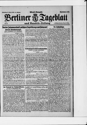 Berliner Tageblatt und Handels-Zeitung vom 23.02.1922