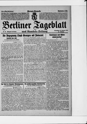 Berliner Tageblatt und Handels-Zeitung vom 25.02.1922