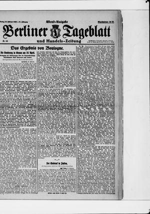Berliner Tageblatt und Handels-Zeitung vom 27.02.1922