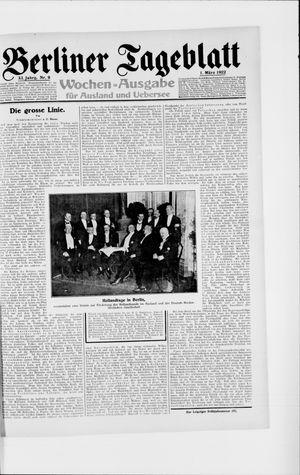 Berliner Tageblatt und Handels-Zeitung vom 01.03.1922
