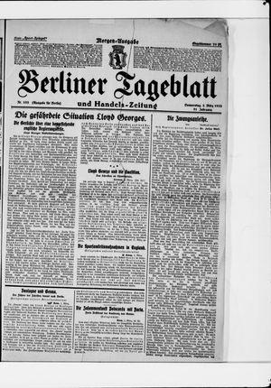 Berliner Tageblatt und Handels-Zeitung vom 02.03.1922