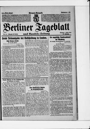 Berliner Tageblatt und Handels-Zeitung vom 07.03.1922