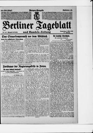 Berliner Tageblatt und Handels-Zeitung vom 09.03.1922