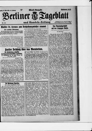 Berliner Tageblatt und Handels-Zeitung vom 10.03.1922