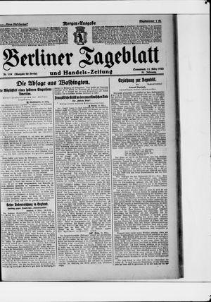 Berliner Tageblatt und Handels-Zeitung vom 11.03.1922