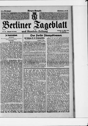 Berliner Tageblatt und Handels-Zeitung vom 12.03.1922