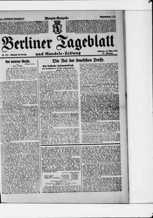 Berliner Tageblatt und Handels-Zeitung vom 15.03.1922