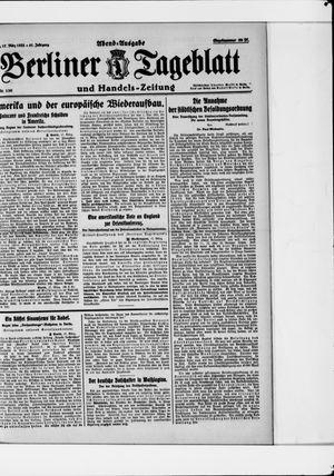 Berliner Tageblatt und Handels-Zeitung vom 17.03.1922