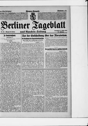 Berliner Tageblatt und Handels-Zeitung vom 18.03.1922