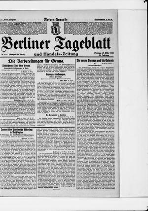 Berliner Tageblatt und Handels-Zeitung vom 19.03.1922