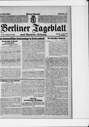 Berliner Tageblatt und Handels-Zeitung vom 21.03.1922