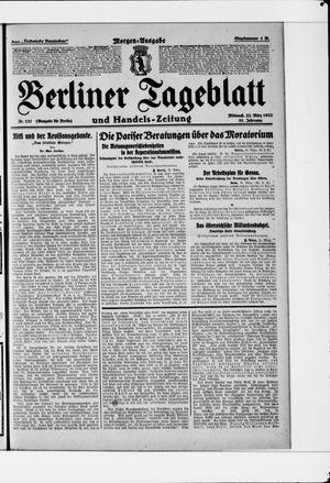 Berliner Tageblatt und Handels-Zeitung vom 22.03.1922