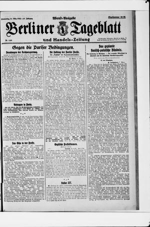 Berliner Tageblatt und Handels-Zeitung vom 23.03.1922