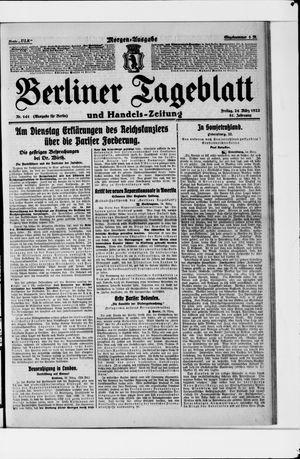 Berliner Tageblatt und Handels-Zeitung vom 24.03.1922