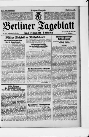 Berliner Tageblatt und Handels-Zeitung vom 25.03.1922