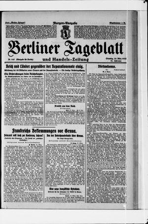 Berliner Tageblatt und Handels-Zeitung vom 28.03.1922