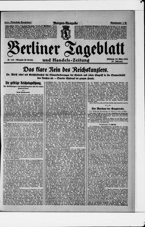 Berliner Tageblatt und Handels-Zeitung vom 29.03.1922
