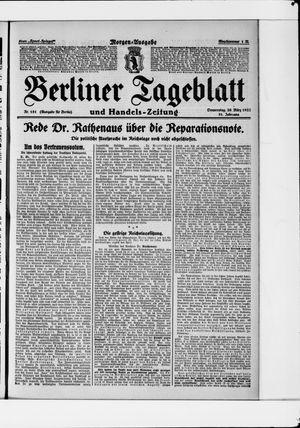 Berliner Tageblatt und Handels-Zeitung vom 30.03.1922