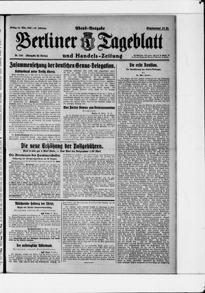 Berliner Tageblatt und Handels-Zeitung vom 31.03.1922