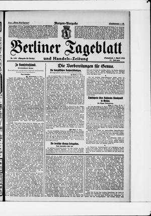 Berliner Tageblatt und Handels-Zeitung vom 01.04.1922