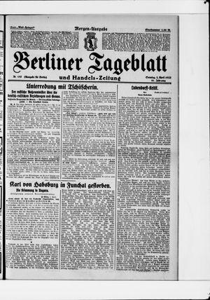 Berliner Tageblatt und Handels-Zeitung vom 02.04.1922
