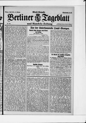 Berliner Tageblatt und Handels-Zeitung vom 03.04.1922