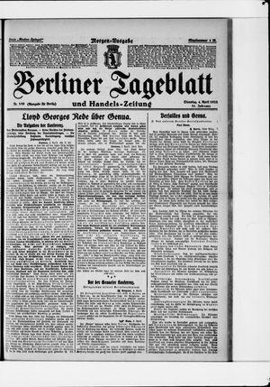 Berliner Tageblatt und Handels-Zeitung vom 04.04.1922