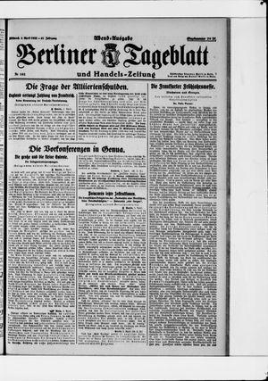 Berliner Tageblatt und Handels-Zeitung vom 05.04.1922