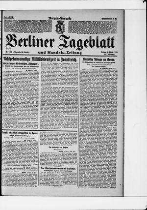 Berliner Tageblatt und Handels-Zeitung vom 07.04.1922
