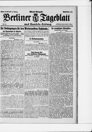 Berliner Tageblatt und Handels-Zeitung vom 12.04.1922