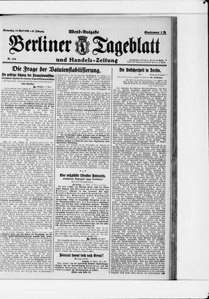 Berliner Tageblatt und Handels-Zeitung vom 13.04.1922