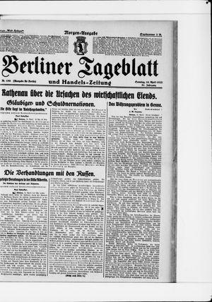 Berliner Tageblatt und Handels-Zeitung vom 16.04.1922