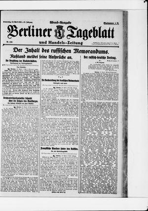 Berliner Tageblatt und Handels-Zeitung vom 20.04.1922