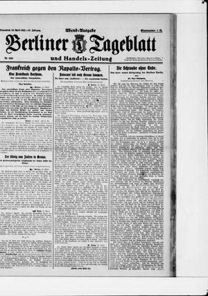 Berliner Tageblatt und Handels-Zeitung vom 22.04.1922