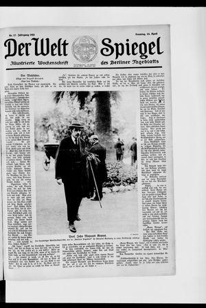 Berliner Tageblatt und Handels-Zeitung vom 23.04.1922