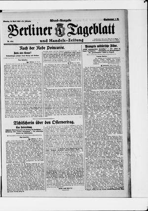 Berliner Tageblatt und Handels-Zeitung vom 25.04.1922