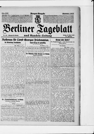 Berliner Tageblatt und Handels-Zeitung vom 28.04.1922