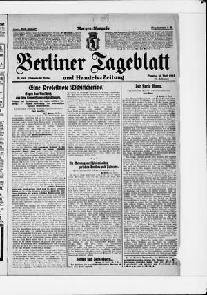 Berliner Tageblatt und Handels-Zeitung vom 30.04.1922