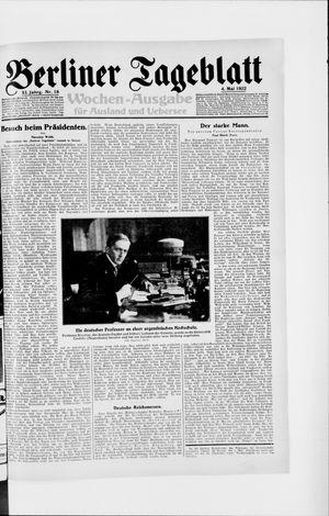 Berliner Tageblatt und Handels-Zeitung vom 04.05.1922