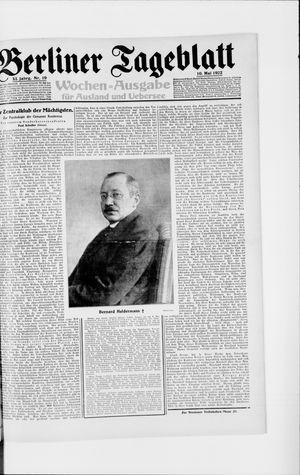 Berliner Tageblatt und Handels-Zeitung vom 10.05.1922